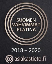 Suomen vahvimmat platina, 2018-2020. Asiakastieto.fi.